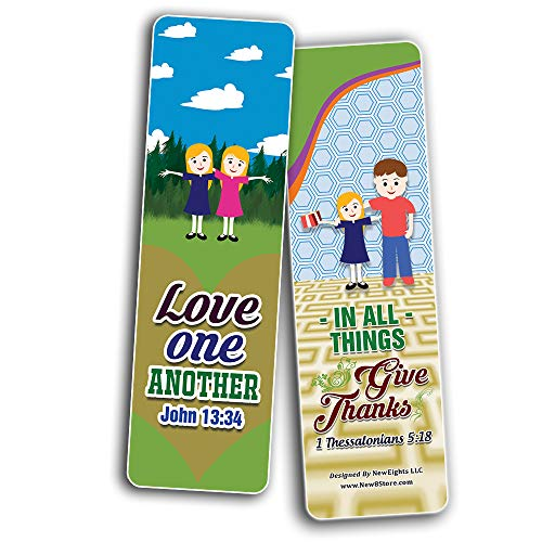 Top Bible Verses for Thanksgiving Bookmarks for Kids (30-Pack) - VBS Sunday School Easter Baptism Thanksgiving Christmas Rewards Encouragement Gift