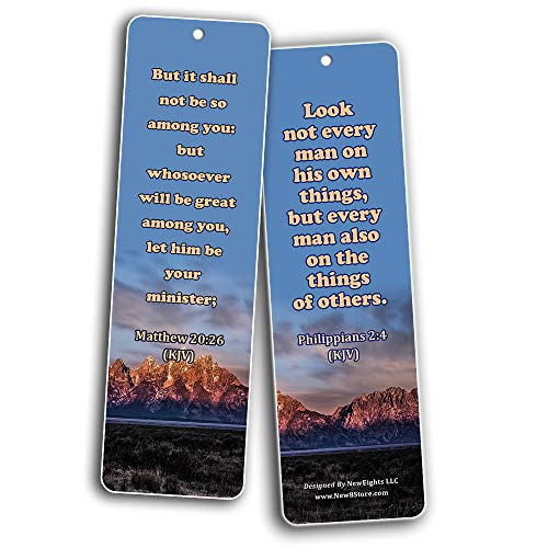 Bible Verses on Leadership Bookmarks (60-Pack) - Compilation of Motivational Leadership Bible Verses