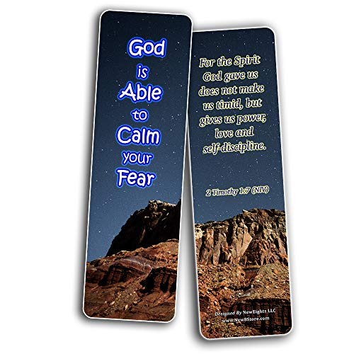 Scriptures Bookmarks - Bible Verses about Strength (30 Pack) - Well Designed and Easy To Memorize Bible Verses - Reverence Bible Texts VBS Sunday School Easter Baptism Thanksgiving Christmas Rewards