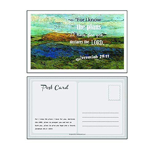 Christian Inspirational Postcards - Be Strong Bible Verse Theme (12-Pack) - Great Variety Postcards with Motivational Scriptures