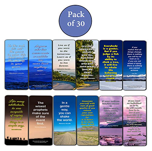 Inspirational Quotes Bookmarks Cards Series 4
