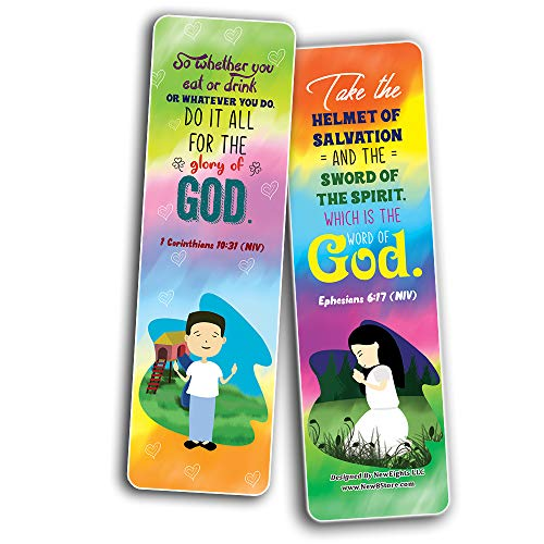 Positive Bible Verses Bookmarks (30-Pack) - Stocking Stuffers for Boys Girls - Children Ministry Bible Study Church Supplies Teacher Classroom Incentives Gift