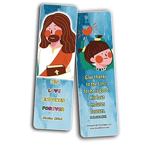 God Loves Us Christian Bookmarks for Kids (12-Pack)