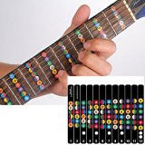 Guitar Fretboard Note Decals Sticker Color Coded Guide for Guitar Beginners