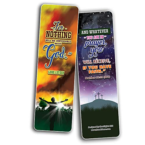 God will Provide Bible Verses Bookmarks Cards (60-Pack) - Church Memory Verse Sunday School Rewards - Christian Stocking Stuffers Birthday Party Favors Assorted Bulk Pack
