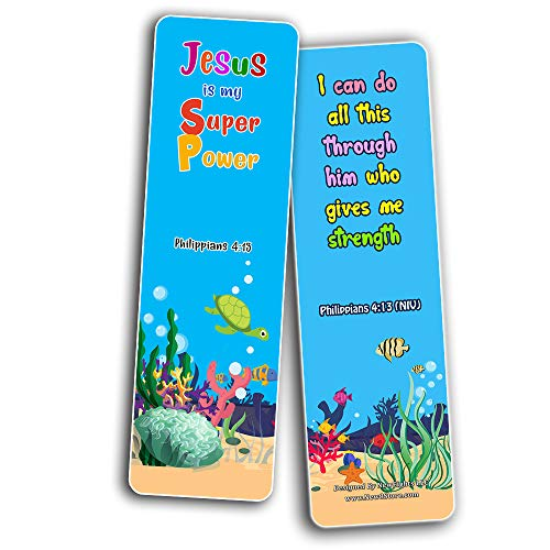 Christian Bookmarks for Kids - Life Changing (30 Pack) - Well Designed for Kids - Stocking Stuffers Adoration Devotional Bible Study - Church Ministry Supplies Classroom Teacher Incentive Gifts