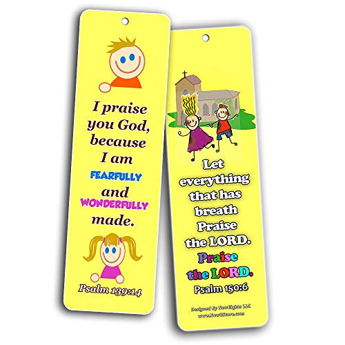 Powerful God Memory Verse Bookmarks (60-Pack) - Great Way For Kids to Learn the Scriptures and Introduce To Them God?s Power