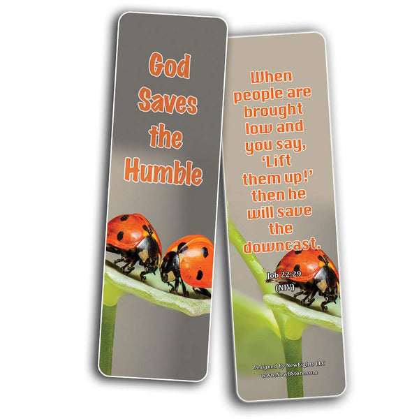 Bible Verses About Being Humble Bookmarks