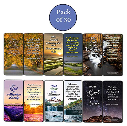 Religious Scriptures about Walking with God Bookmarks (30 Pack) - Handy Reminder Walking By Faith