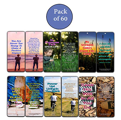 Encouraging Bible Verses For Teens Bookmarks