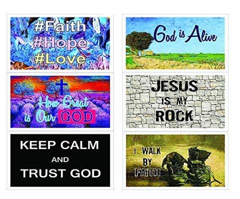 New Christian Inspirational Bible Verses Postcards Cards - How Great is Our God Theme