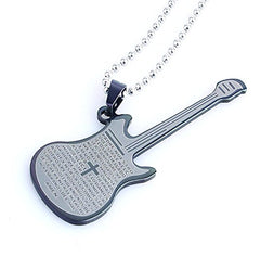 NewEights Guitar Cross Pendant Necklace