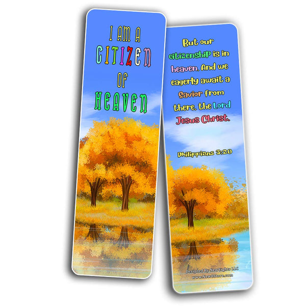 Christian Bookmarks for Kids - Identity in Christ