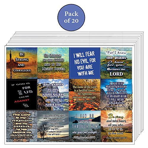Be Strong Stickers (20-Sheet) - Great Variety Stickers with Motivational Quotes
