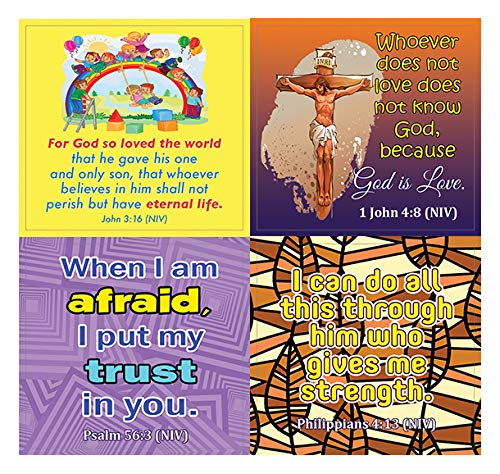 Christian Stickers for Kids (10-Sheet)