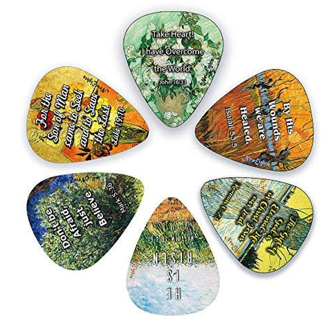 Guitar Picks with Christian Jesus Has Risen Bible Verses (12-Pack)