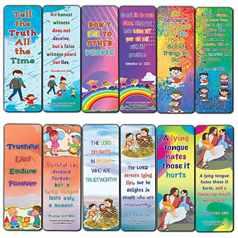 Be Honest All The Time Memory Verses Bookmarks for Kids (12-Pack)