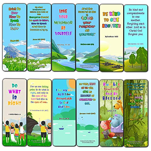 Bible Bookmarks for Kids - Cultivate Good Character