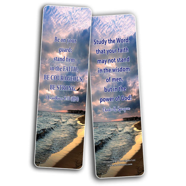 Faith Bible Scriptures & Quotes Bookmarks Cards (60-Pack)