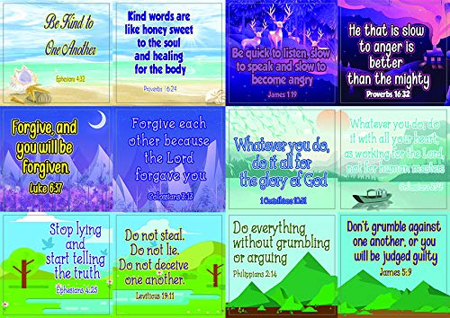 Christian Character Building Stickers for Kids Series 1