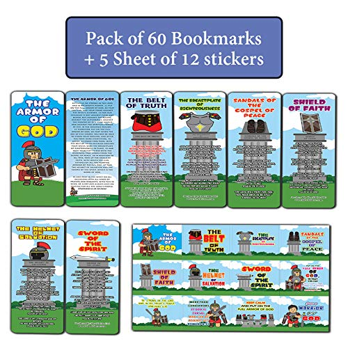 Armor of God Bookmarks and Stickers for Kids