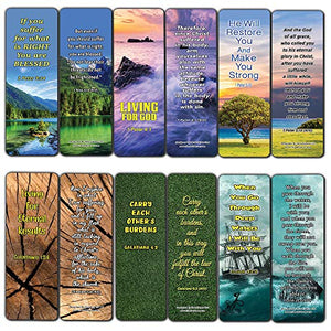 Living Out God's Mission Bible Verse Bookmarks (12-Pack)