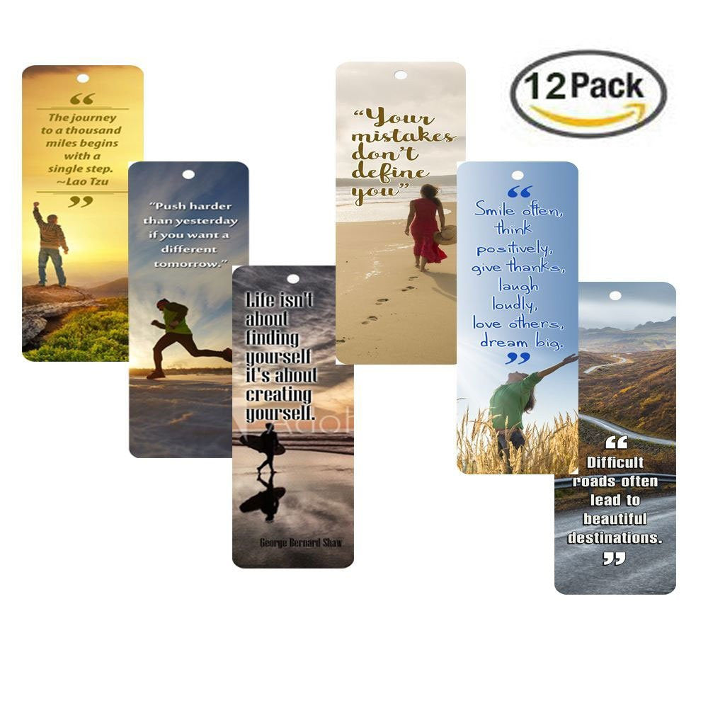 Products Bookmarks Design Inspiration And: NewEights Inspirational Quotes Bookmarks (12-Pack) For Men