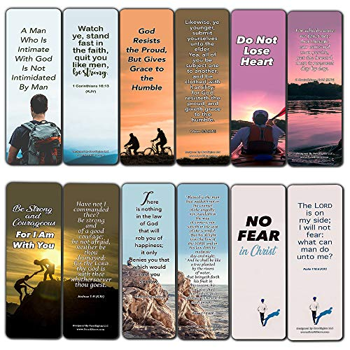 Popular Bible Verses for Men Bookmarks KJV (12-Pack)