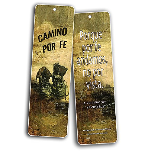 Spanish Favorite Bible Verses Bookmarks (60 Pack) - Bulk Collection & Gift with Inspirational, Motivational, Encouragement Messages