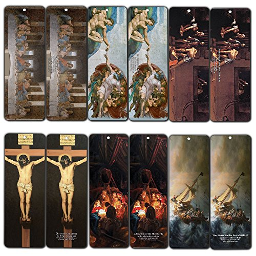 Famous Christianity Clasisic Art Paintings Bookmarks (12-Pack)