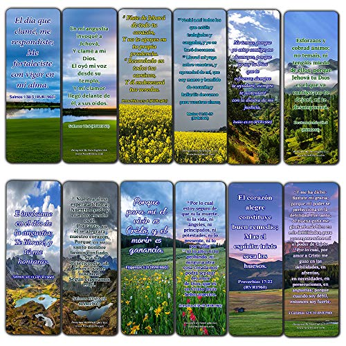 Spanish Inspirational Bible Verses for Cancer Patients Bookmarks