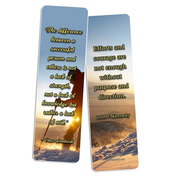 NewEights Adventure Inspirational Quotes Bookmarks (60-Pack)