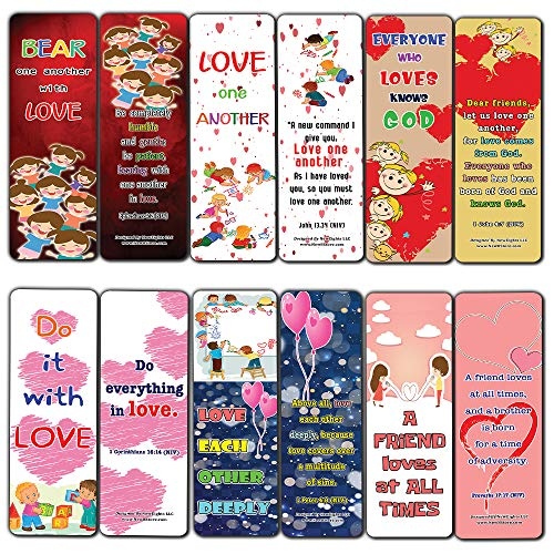 Love One Another Bible Verses Bookmarks for Kids