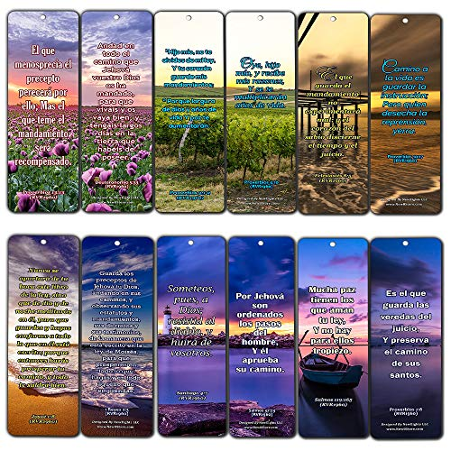 Spanish Scriptures Bookmarks - Friendship Bookmarks (RVR1960) (60-Pack) - Perfect Gift Idea for Friends and Loved Ones