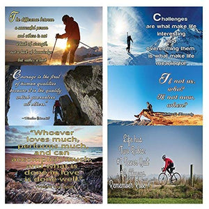 NewEights Adventure Inspirational Quotes Posters - A3 Size - Great Home Office Room Decoration Collection & Gift with Inspirational , Motivational ,Encouragement Messages (12-Pack)