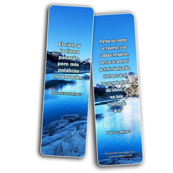 Spanish God's Promises Bible Verses Bookmarks