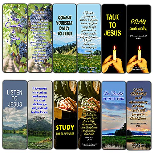 Keys to a Fruitful Life Scriptures Bookmarks (60 Pack) - Perfect Giveaways for Sunday School and Ministries