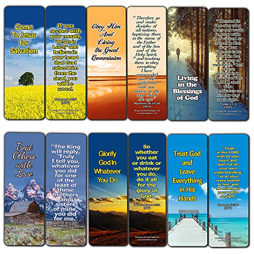 Top Bible Verses on God?s Will Bookmarks (60-Pack) - Perfect Gift Idea for Friends and Loved Ones