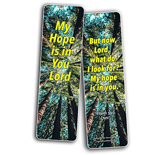 Bible Verses Bookmarks About Hope: Staying Positive In The Midst of Hardship (60 Pack) - Perfect Giftaway for Sunday School and Ministries