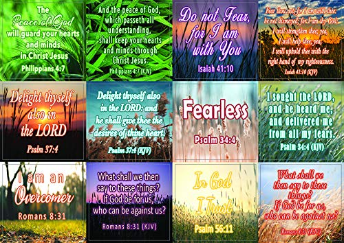 Bible Verses to Soothe Your Soul Stickers (20-Sheet) - Great Giftaway Stickers for Ministries