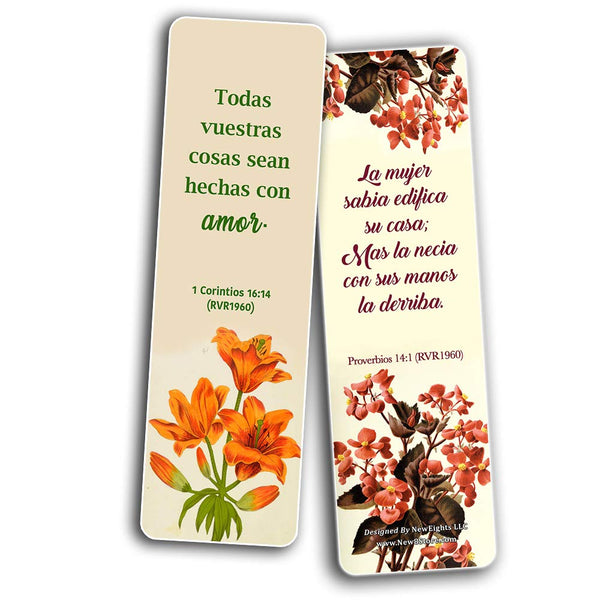 Spanish Flower Bookmarks Scriptures Series 3