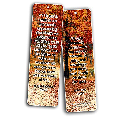 Bible Texts to Strengthen Prayer Life Bookmarks (60-Pack)