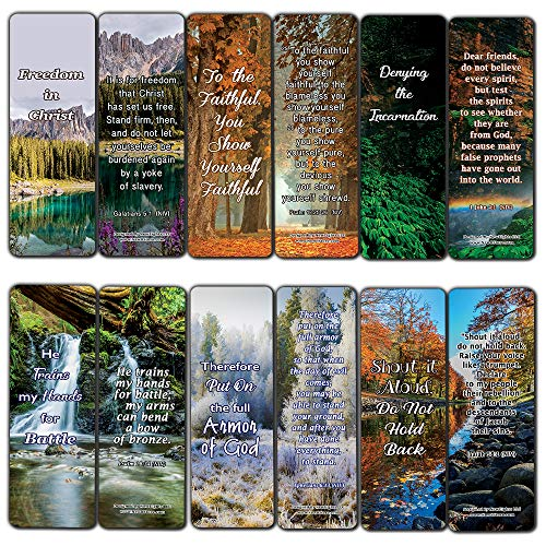 Stand For What Is Right Memory Verses Bookmarks (60-Pack) - (60 Pack) - Perfect Giftaway for Sunday School and Ministries
