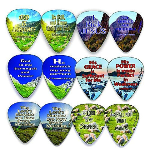 Christian Guitar Picks - Almighty God (12-Pack)