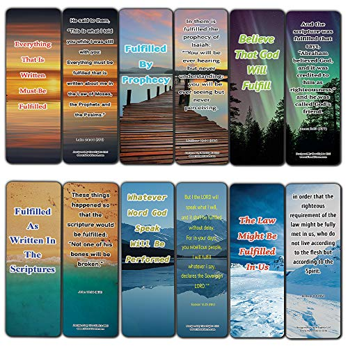 Living A Fulfilled Life Bible Bookmarks