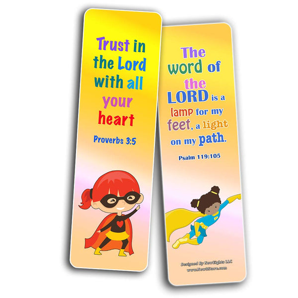 Religious Bookmarks for Kids - Super Hero