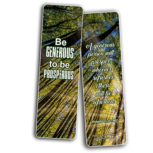 Kindness Scriptures Cards Bookmarks (30 Pack) - Handy Reminder To Be Kind Always