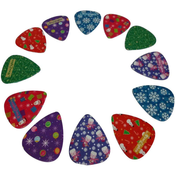 Christmas Guitar Picks (12-Pack)