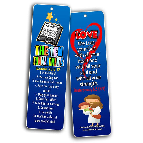 Ten Commandments Memory Verses Bookmarks for Kids