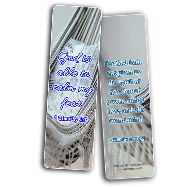 Bible Verses to Help You Sleep Bookmarks Cards